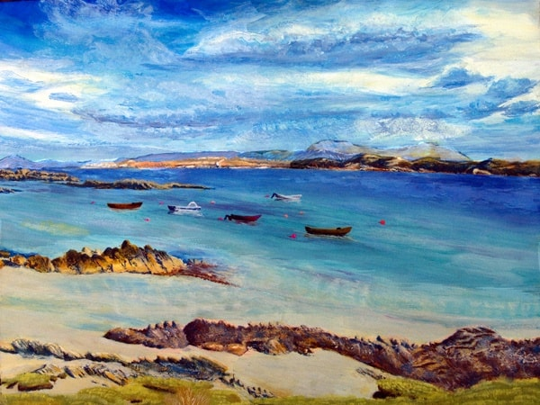 Mull from Iona by Scottish Island Art