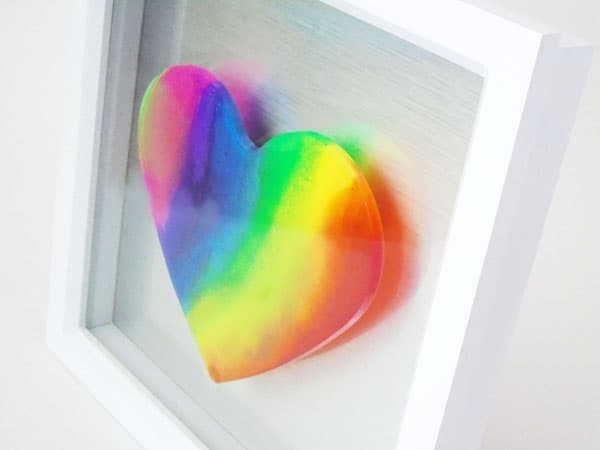 Resin Rainbow heart