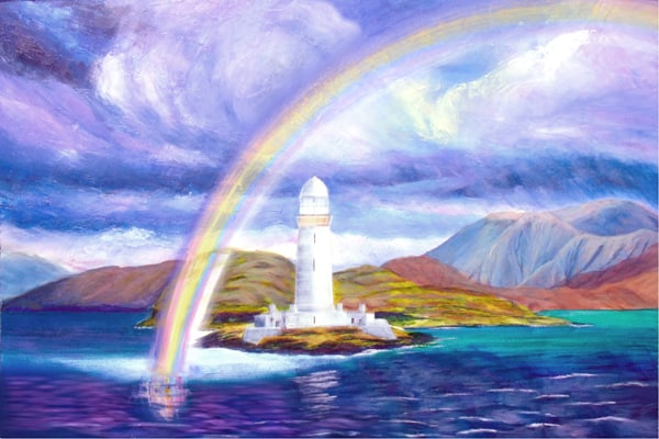 Lismore rainbow painting