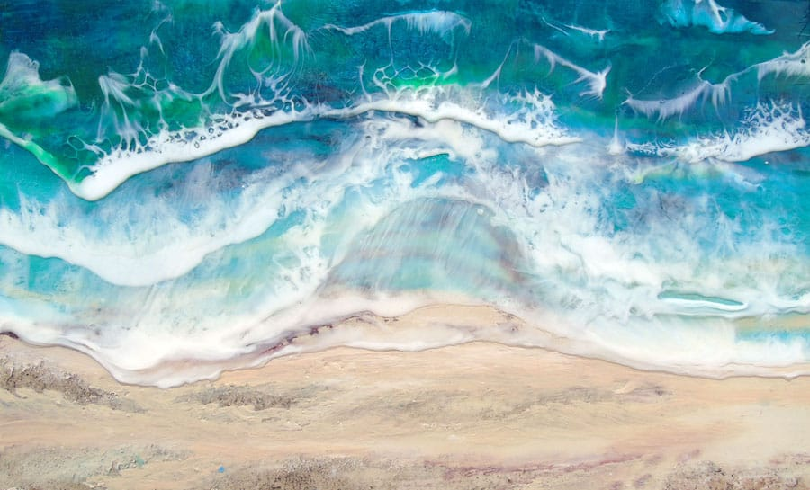 Meeting of the waves painting