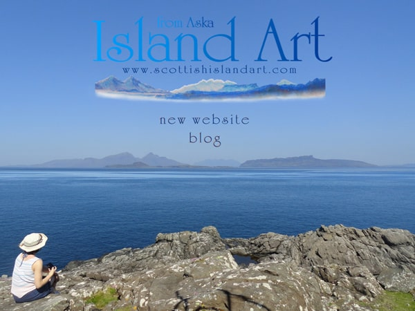 scottish island art new website and blog