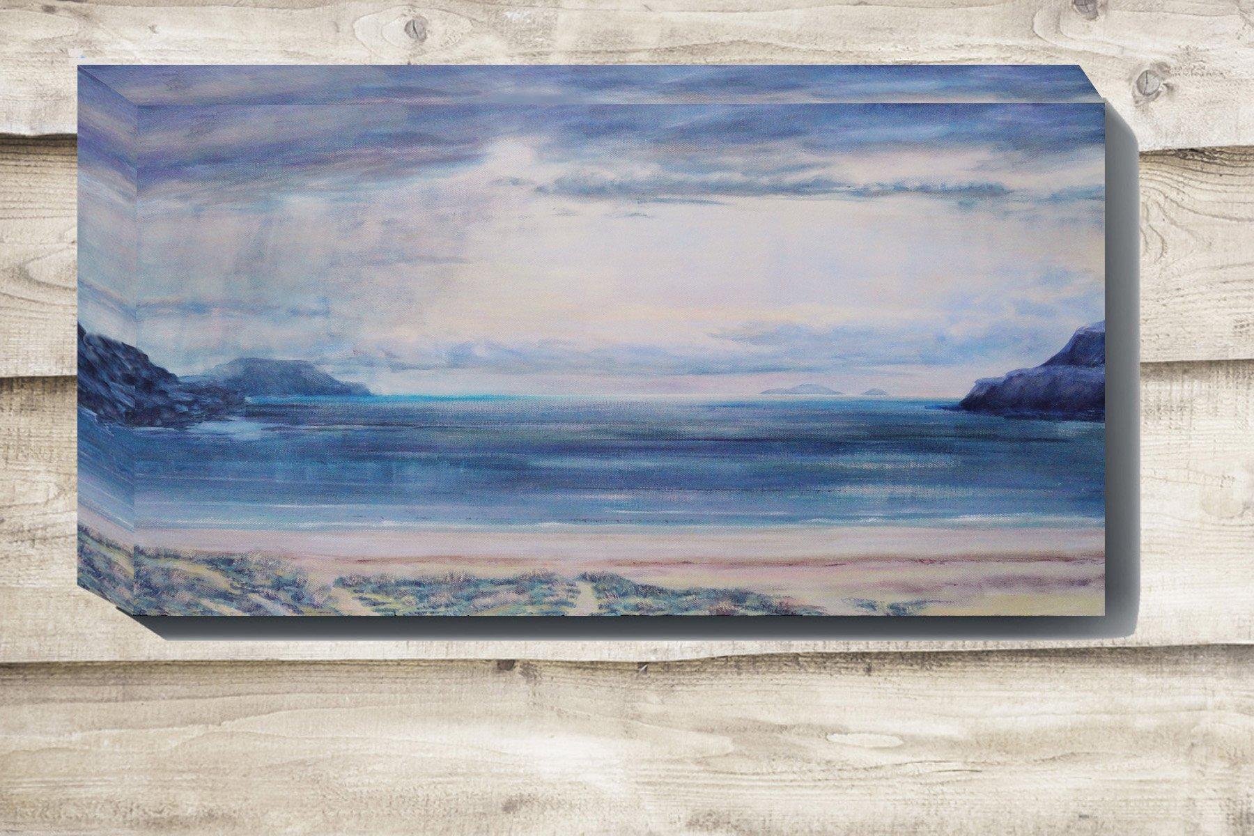 Calgary sun and rain canvas painting