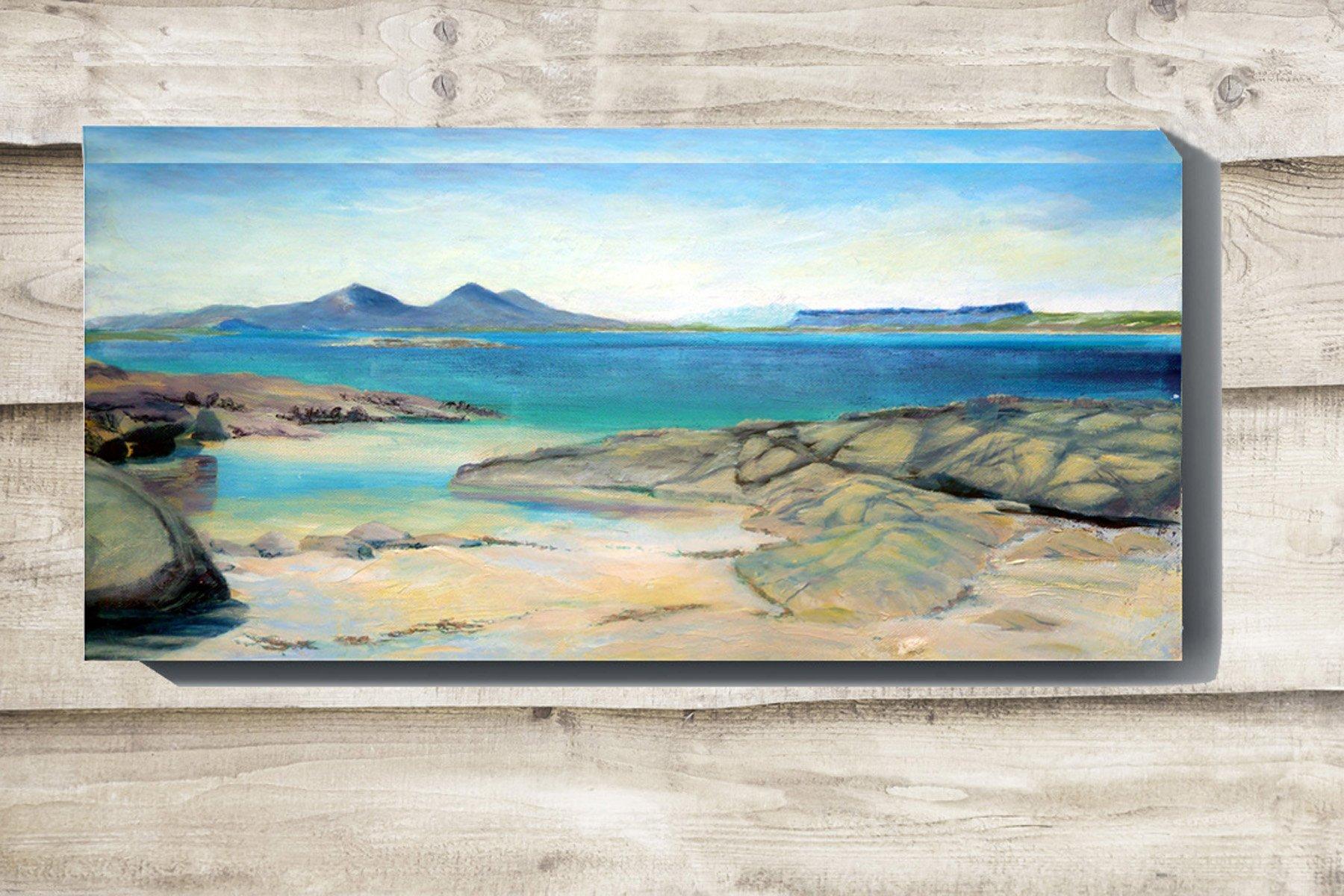 Portuairk beach painting on canvas