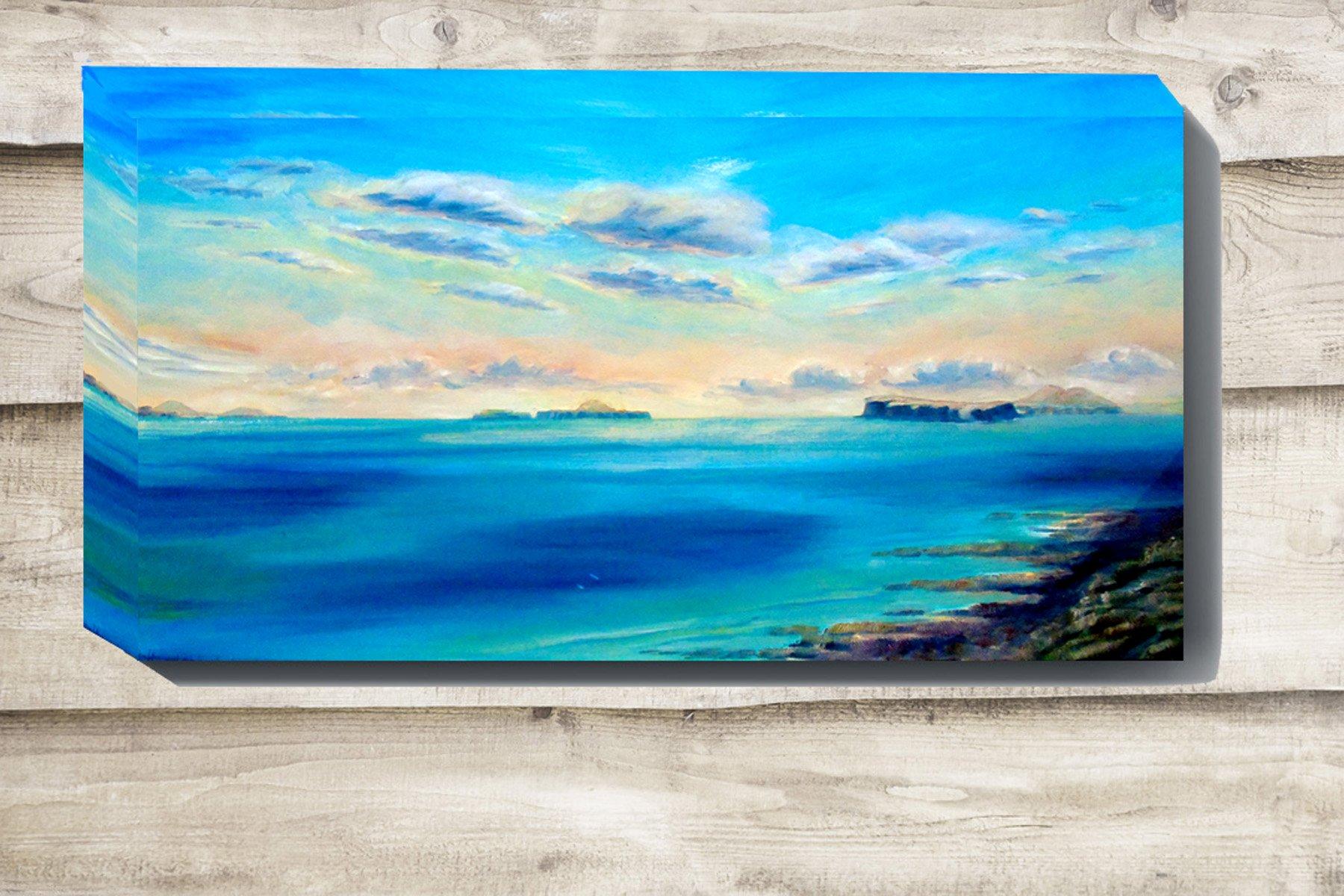 Treshnish Isles painting on canvas