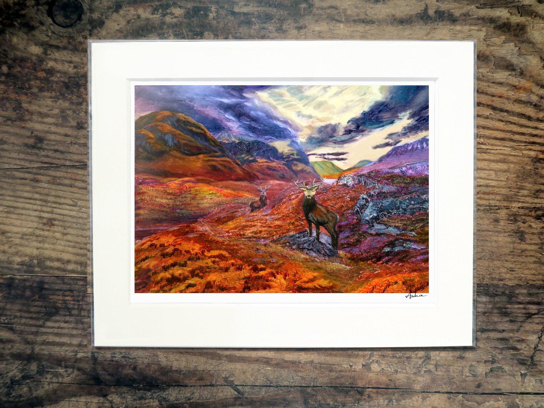 Glencoe stag print