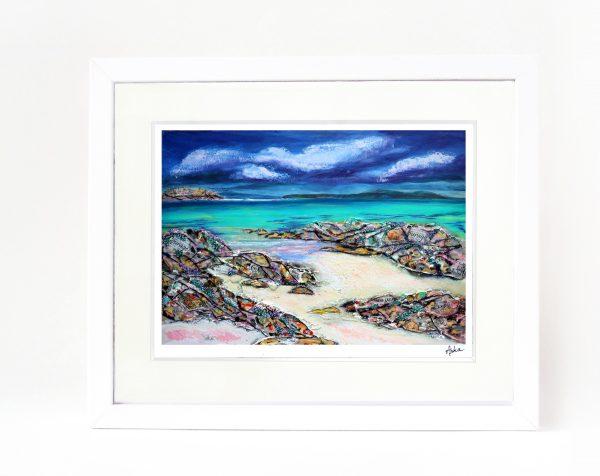 Iona rocks framed print