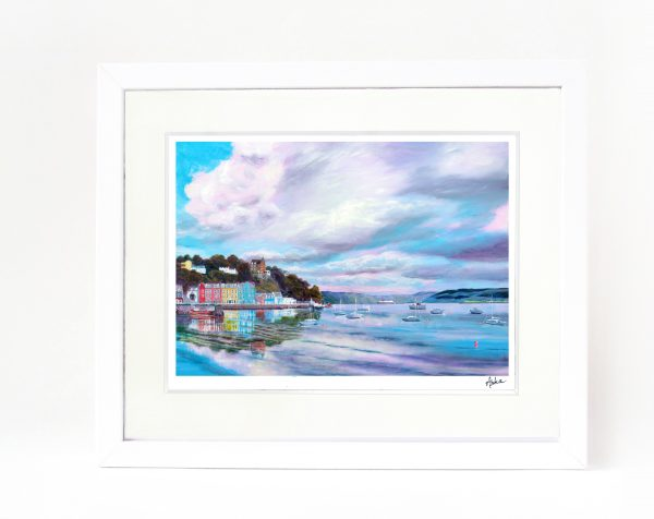 Tobermory reflections framed